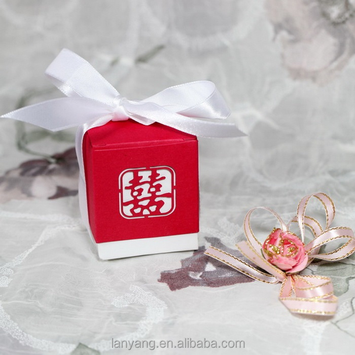 Wedding Favor Box Foldable DIY Double Happiness Paper Gift Boxes (FL455)