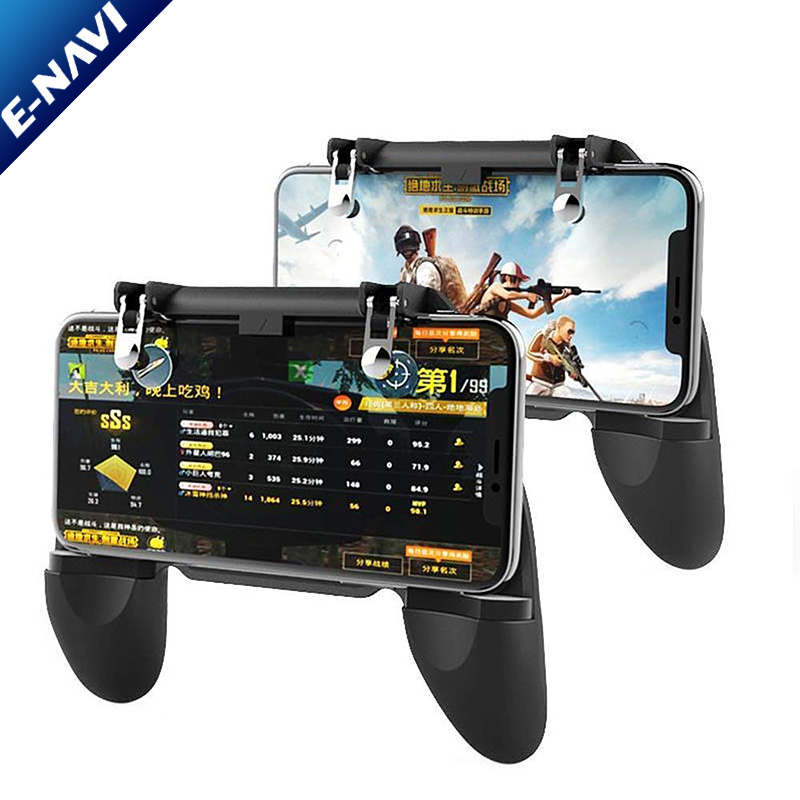 For PU BG Mobile Game <strong>Controller</strong> With L1R1 Shooter Trigger Fire Button Aim Key Joystick For iOS & Android Mobile Phone Gaming
