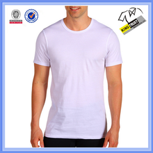 Polyester cotton competitive price mens blank white t shirt below $1