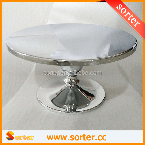 Crystal Beaded Cake Stand with Hanging Octagon shape beads for Wedding