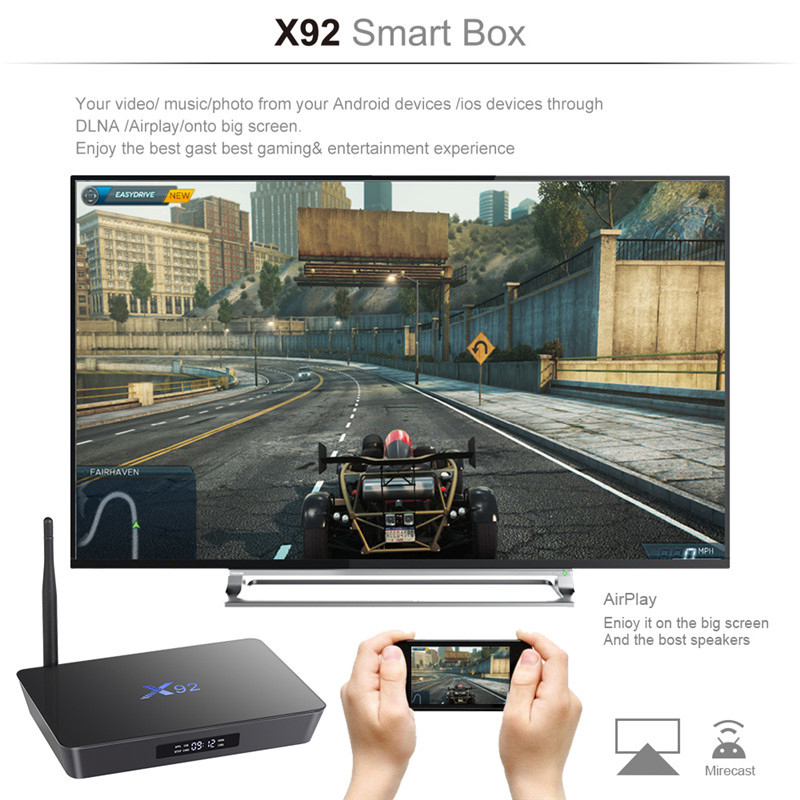 Dragonworth 2019 new new video song download Amlogic S912 Octa core 2g 16g X92 S912 Android 6.0 Android Tv box