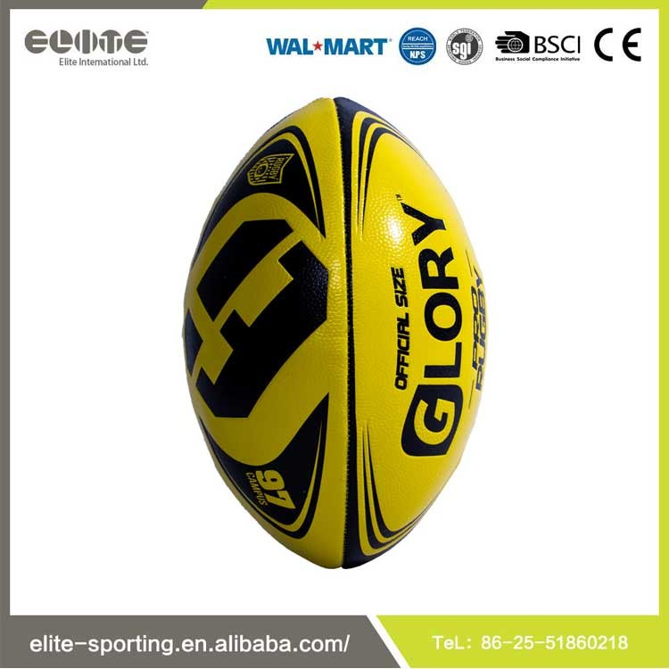2016 Hot sale low price bulk machine stitched rugby ball