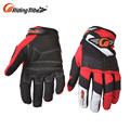 Safety Fashionable Driving Long Red Fingerless Cheap Custom Made Chrome Free Leather Gloves