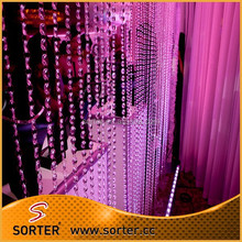 charming elegant crystal beaded chain curtains for room dividers/home decoration