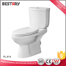 High quality washdown flushing two piece bathroom ceramic toilet