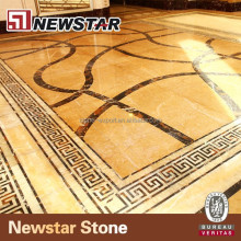 Customized Design Waterjet Marble Hotel Flooring Medallions