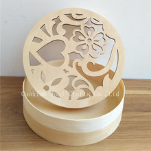 2017 High quality Wooden arts crafts carved hollow Wooden laser cutouts carving Tea Packaing Box