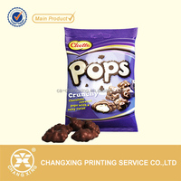 heat seal plastic sachet packaging film for chocolate bar packaging