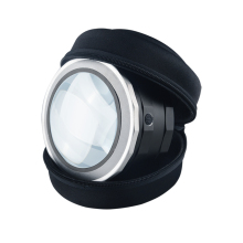 DH-86019 5X Diopter Beautiful Bright Field Dome Magnifier , Hand Free Recharge Led Lighted Magnifying Glass Lens