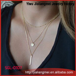 Wholesale Women Accessories Gold Artificial Jewellery Chain Necklace