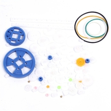 80 Kinds Gearbox Plastic Gear Pack For DIY Car Robot Assorted Kit Single/Double/Belt Pulley/Crown/Belt/Shaft Sleeve/Worm/Motor