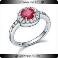 Big Crystal Stone 925 Sterling Silver Ring Designs for Women