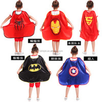 Cheap price wholesale Halloween Party Kids Costume Super hero Cape