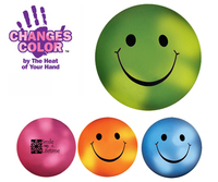 Mood smiley face stress ball. Colour changes with the heat of your hand.
