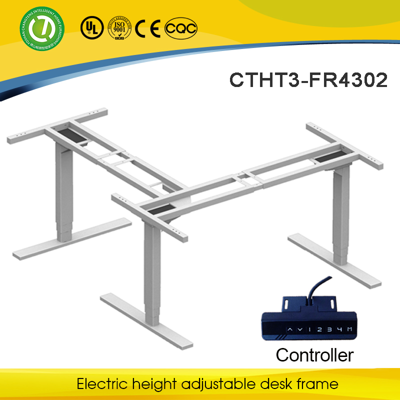 Climbing height adjustable Workstation office desk roll up stand for executive office desk