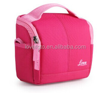 B51 Nylon Mini Camera Shoulder Case Pouch Bag For Nikon New Pink Cute Women Ba