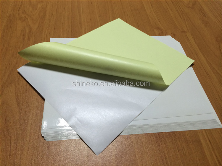 Self Adhesive Mirror Kote Label Sticker Paper in sheet/roll for free sample