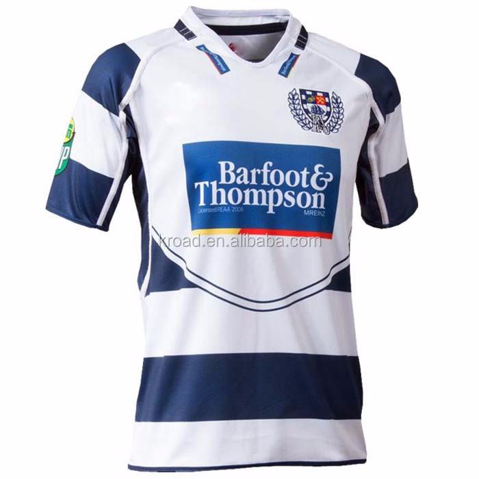 Sublimated custom mens blank wholesale rugby shirts