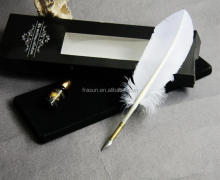 Business gift set white feather fountain pen