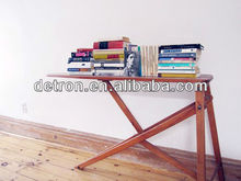 Wooden book display stands