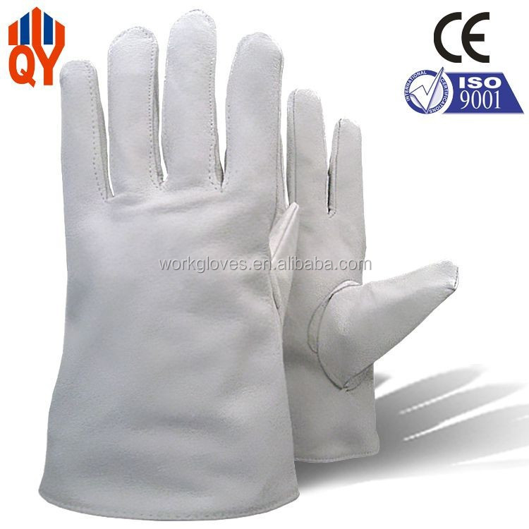Wholesale Grain Cow Leather Natural Color Bus Driving Gloves