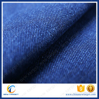 Colombia blue satin denim fabric textile pants
