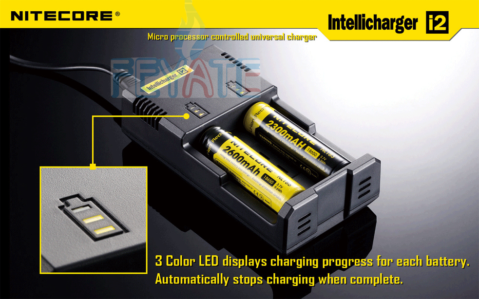 Nitecore charger i2 charger with UK/EU/AU/US plug charger 18650 battery charger