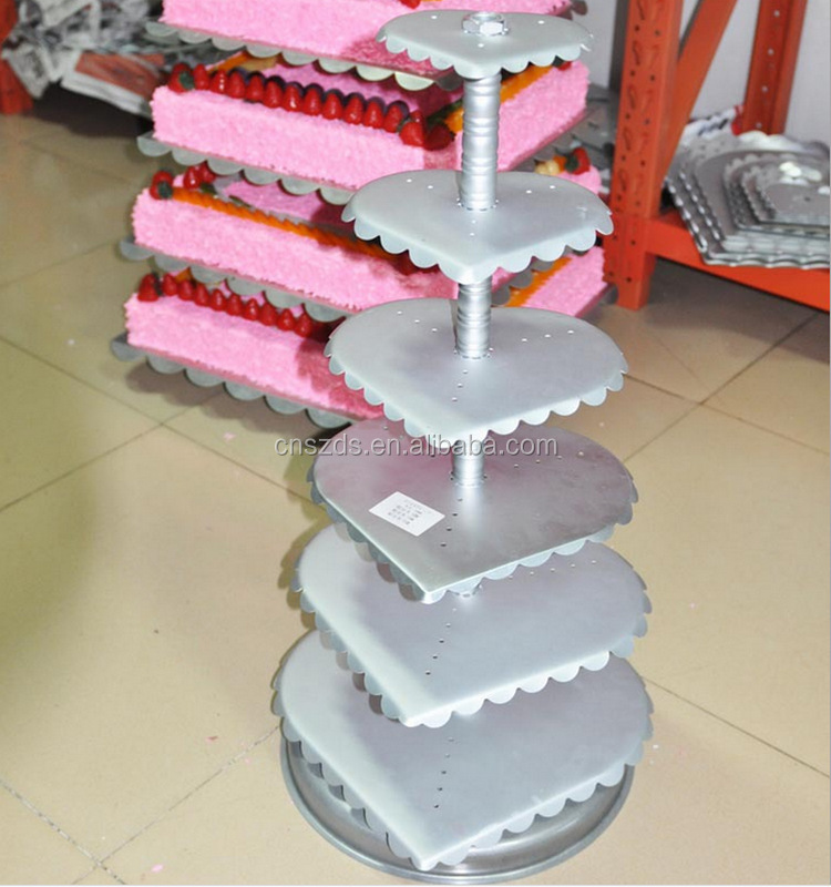 Fashion 6 layer metal cake stand for a wedding birthday cake/Dessert Decoration /cake shop center piece decoration