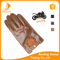 2016 men's fashion hot selling changing color sheepskin driving leather gloves with manufacture wholesale price