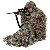 3D leafy poncho camouflage hunting clothing ghillie suit