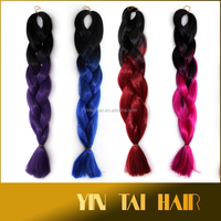 "2 COLORS TONES OMBRE HAIR 82"" LONG SYNTHETIC JUMBO BRAIDING HAIR 165G/PC for the cheapest price"