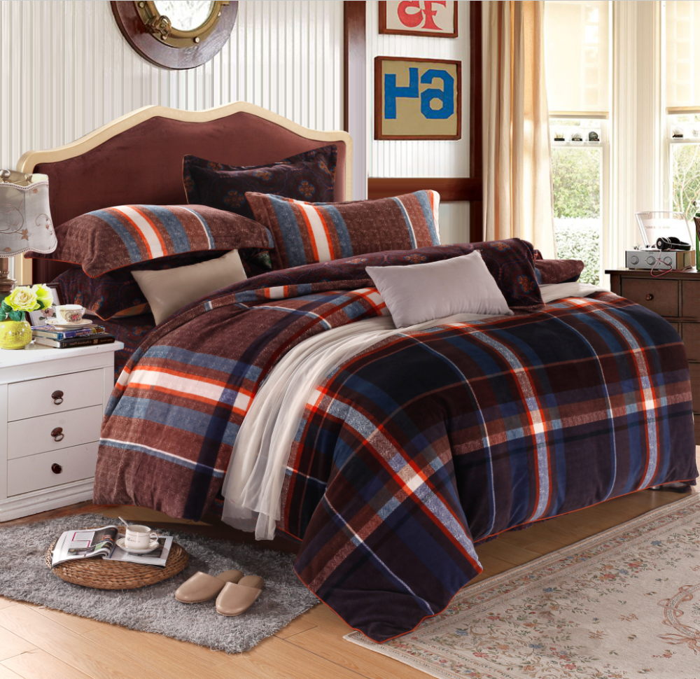 Wholesale warm duvet cover comforter sets Bedding set