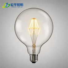 4W Ultra High Brightness Edison Style Led G125 Bulb With Amber Glass
