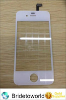 Hot sale front touch screen glass lens replacement for iphone 4s with flex cable