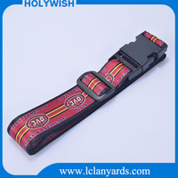 Custom soft polyester material plastic datachable buckle luggage belt/luggage strap for hot sale