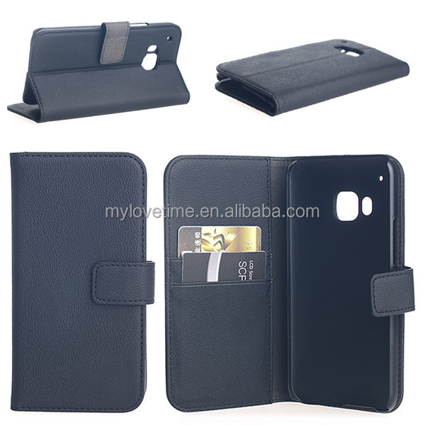Genuine leather flip case for HTC one M9