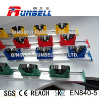 Plastic Mop and Broom Holder with Sliding Clips