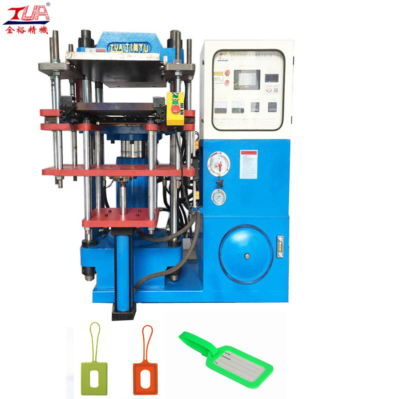 silicone luggage tag hydraulic press