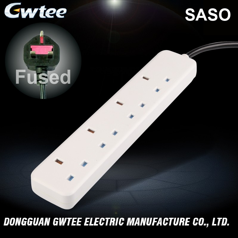 China suppliers wholesale multiple outlets SASO UK power strip power extension socket