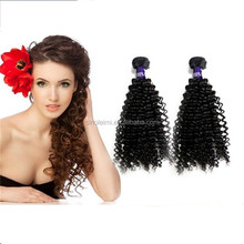 2016 new human hair extension product factory price 7A kinky curl philippines human hair weft