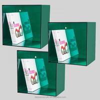 acrylic wall mounted display cube shelf
