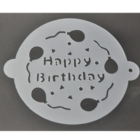 PP Stencils or PVC Stencils Customized Shaped Drawing Cake Stencils