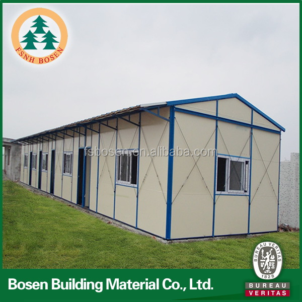 Steel prefabricated building houses for construction site