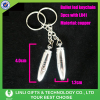 Promotion LED Mini Silver Bullet Keychain