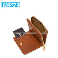leather zip coin pouch wallet, coin holder leather case