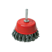 crimp stainless steel wire round polish brush and Brass wire round polishing brush for sale