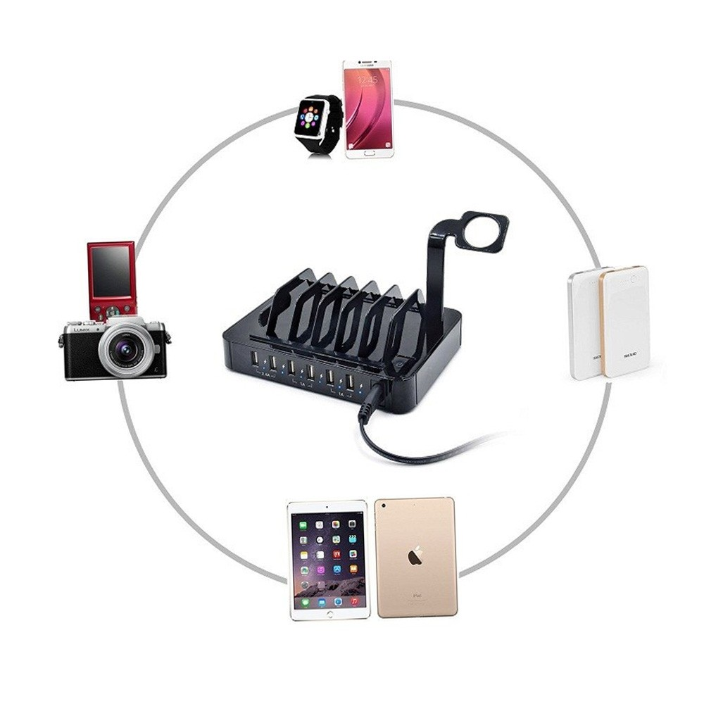 New 6 usb port charging station electronics for cell phone and tablet