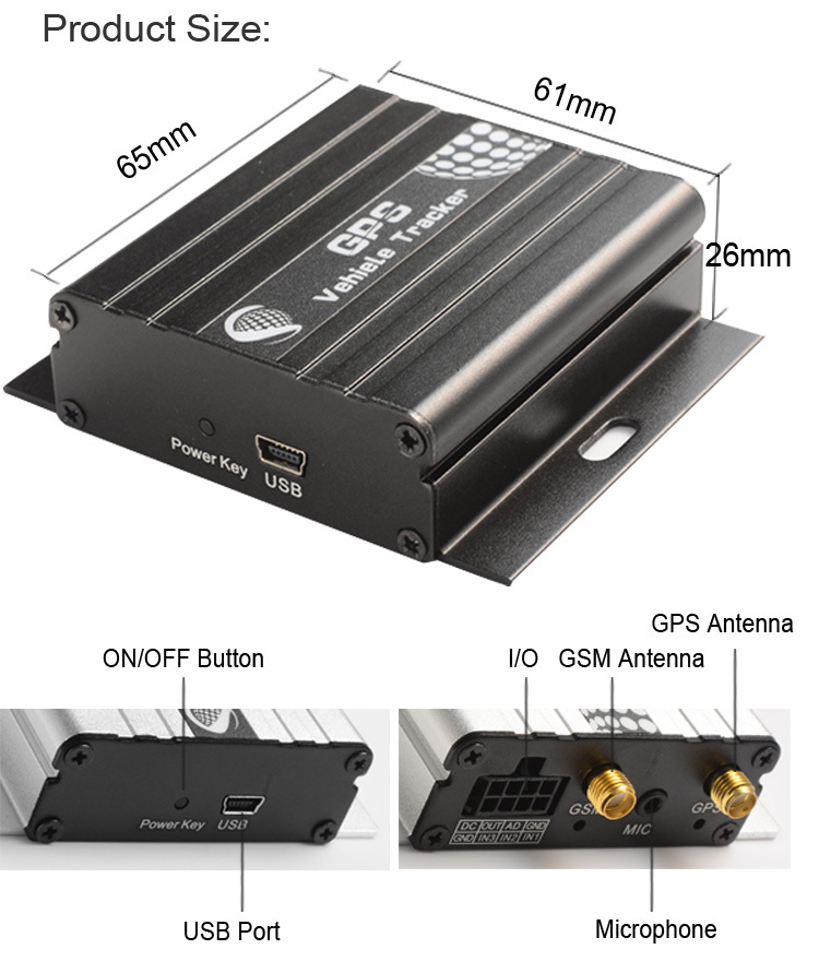 Vehicle GPS Tracker VT600 VT310 Terminal gps tracking System GSM/GPRS/GPS 850/900/1800/1900MHZ Engine Cutting