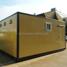 Professional Economic Yellow Mobile Office Containers 20 Feet Military house