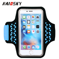 "HAISSKY Water Resistance Sports Armband Arm Band Case For iPhone 6 plus 6S plus universal for 5.5"" screen mobilephone"